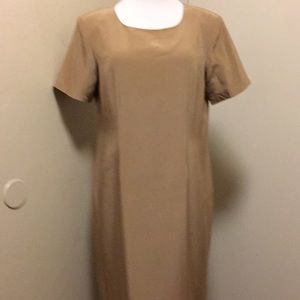 NWOT Women's 14WP Jessica London Gold Silk Dress